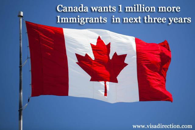 Canada wants 1 million more Immigrants in next three years